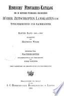 Hinrichs  Katalog der im deutschen Buchhandel erschienenen B  cher  Zeitschriften  Landkarten usw