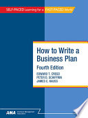 How To Write A Business Plan  Fourth Edition