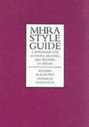 MHRA Style Guide