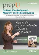 Prepu for Ricci  Kyle    Carman s Maternity and Pediatric Nursing    12 Month Access Card