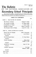 The Bulletin of the National Association of Secondary School Principals