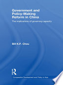 Government and Policy Making Reform in China