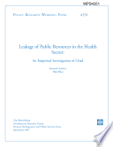 Leakage of Public Resources in the Health Sector: an Empirical Investigation of Chad