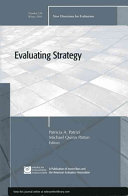 Evaluating Strategy: New Directions for Evaluation, Number 128