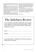The Salisbury Review