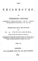 download ebook the novels of frederika bremer: the neighbors pdf epub