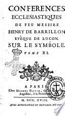 Conférences ecclésiastiques du diocèse de Luçon. [...]. Tome premier [-dix-septème]