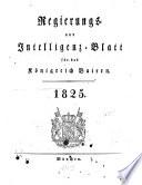 Regierungs  und Intelligenzblatt f  r das K  nigreich Baiern