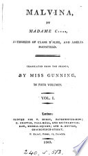Malvina  by madame C      tr  by miss Gunning