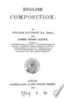 English composition  by W  Davidson and J C  Alcock   With  Key