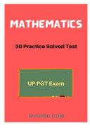 UP PGT Mathematics: 30+ Mock Test in English PDF download Book