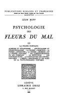 Psychologie des Fleurs du mal  La pens  e po  tique