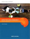 Effective legal research.