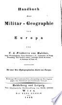 Handbuch der Militär-Geographie von Europa