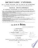 Dictionnaire universel de la langue fran  aise  avec le Latin