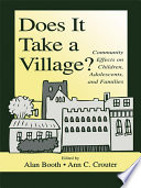Does It Take A Village? That Link Community Characteristics To The Functioning