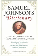 Samuel Johnson's Dictionary Dictionary Published In 1755 Marked