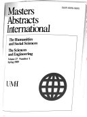 Masters Abstracts International