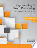 Keyboarding and Word Processing Complete Course Lessons 1 110  Microsoft Word 2016