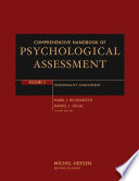 Comprehensive Handbook of Psychological Assessment  Personality Assessment