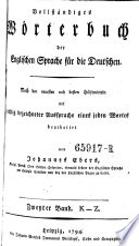 Vollst  ndiges W  rterbuch Der Englischen Sprache F  r Die Deutschen  The New and Complete Dictionary of the German and English Languages