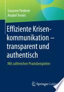 Effiziente Krisenkommunikation     transparent und authentisch