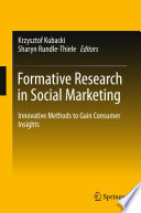 Formative Research in Social Marketing And Current Debates In The Field