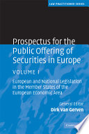 Prospectus for the Public Offering of Securities in Europe  Volume 1