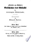Friedrich von Schiller's Geschichte des Abfalls der vereinigten Niederlande