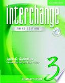 Interchange Student S Book 3 With Audio Cd