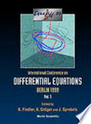 International Conference on Differential Equations  Berlin  Germany  1 7 August  1999