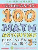 100 Math Activities Kids Need to Do by 3rd Grade
