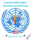 Essential 25000 English Romanian Law Dictionary