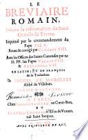 Le Bréviaire Romain suivant la réformation du Saint Concile de Trente