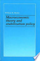 Macroeconomic Theory and Stabilization Policy