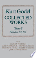 Kurt G  del  Collected Works  Volume II