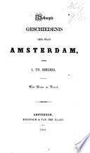 Beknopte geschiedenis der stad Amsterdam