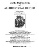 On the methodology of architectural history