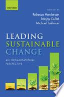Leading Sustainable Change