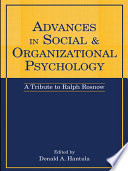 Advances in Social and Organizational Psychology