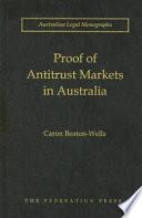 Proof of Antitrust Markets in Australia