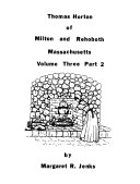 Thomas Horton of Milton and Rehoboth  Massachusetts