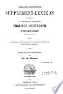 Englisch deutsches Supplement Lexikon