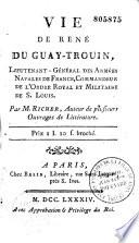 Vie de René Duguay-Trouin