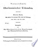 Verzeichnis Oberlausizischer Urkunden