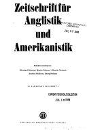Zeitschrift F  r Anglistik und Amerikanistik