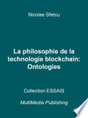 illustration du livre La philosophie de la technologie blockchain - Ontologies