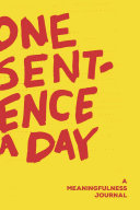 One Sentence a Day