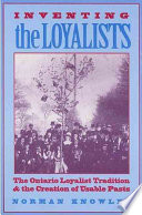 Inventing the Loyalists Concerns And That Many Groups In