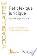 Petit Lexique Juridique